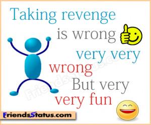 revenge fun attitude quotes image