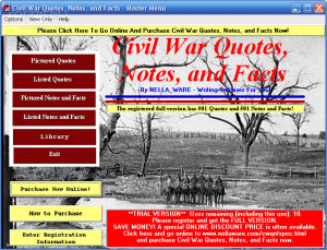 Civil War Quotes, Notes, and Facts Screenshots: