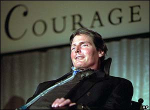 Christopher Reeve received a National Courage Award in 1996