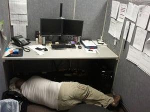 New level of sleeping at work - Image