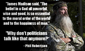 Phil Robertson quotes the Bible and says he believes homosexuality is