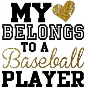 My heart belongs to a baseball player, regular fit shirt with glitter ...