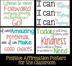 Tween Teaching: Positive Affirmations for Students