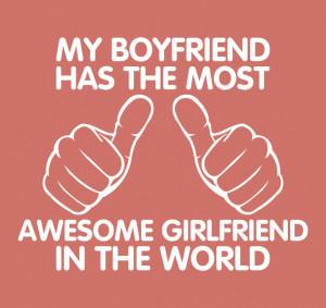 Shirt For Womens Shirt Awesome Girlfriend T-Shirt Girl Boy Shirt ...
