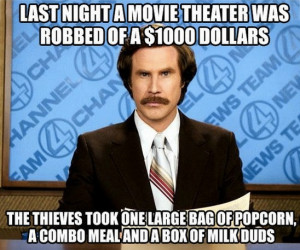 Movie theater was robbed of $1000 dollars