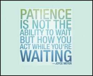 Joyce Meyer quote on patience