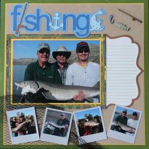 Fishing Quotes for Scrapbooking | Layout: Fishing