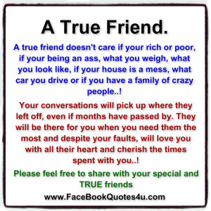 true friend a true friend doesn t care if your rich or poor if your ...
