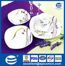 20pcs color box packing purple porcelain dinnerware sets