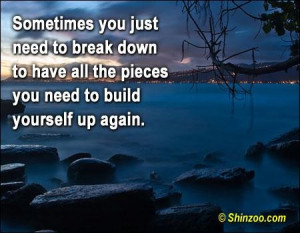 Sometimes you just need to break down break up quote