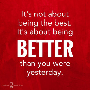 ... best. It's about being better than you were #yesterday.
