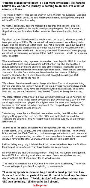 Here is the text version of the speech. Try to read till the end to ...