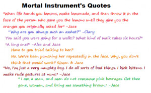 Funny Quotes From Mortal Instruments
