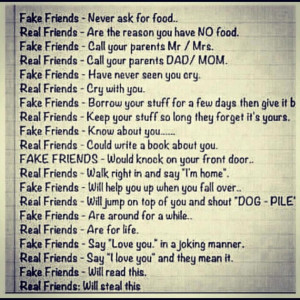 Jokes Quotes And Pictures About Life: Real Friends Vs Fake Friends ...
