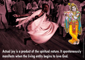 Actual joy is a product of the spiritual nature. It spontaneously ...