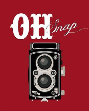 art vintage camera prints - typographic art poster 8x10 - funny quote ...