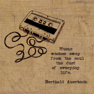 cassette, dust, everyday life, life, music, music quote, quote, soul ...
