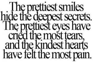 depression, pain, quote, smiles