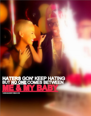 Amber Rose and Wiz Khalifa Quotes