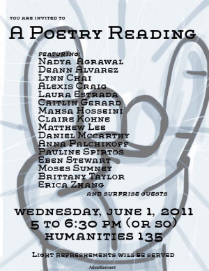 UCLA Student Poetry Reading