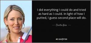 Cristie Kerr Quotes