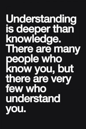 Understanding vs knowledge