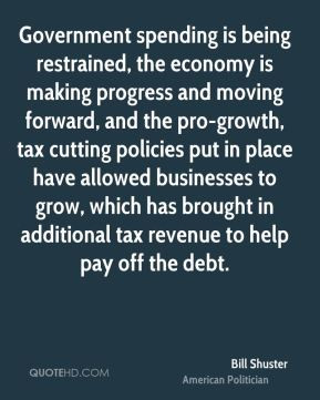 ... tax cutting policies put in place have allowed businesses to grow