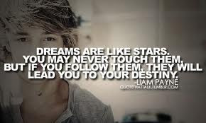 day 1 fav liam quote i love this quote because dreams are the best