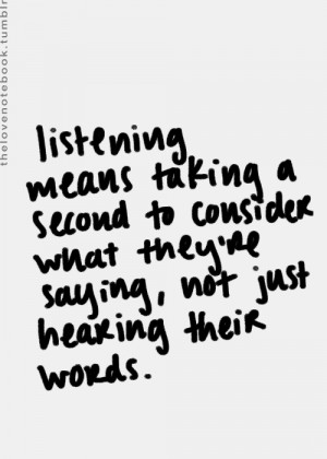 Quote on listening in Quotes