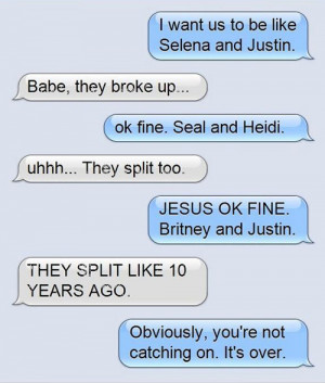 worst break-up texts they all split