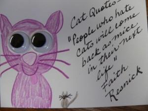 Cat Quotes Card - Mice
