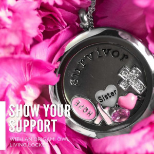Origami Owl Review: Breast Cancer Awareness Locket