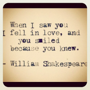 madsxoxo:#williamshakespeare #cute #quotes (Taken with Instagram)