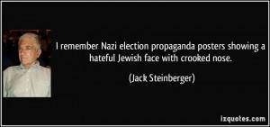 remember Nazi election propaganda posters showing a hateful Jewish ...