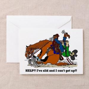 Cartoon Horses Gifts > Reining Horse Birthday Card