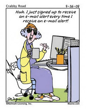 10 Maxine cartoons that I found mildly amusing.