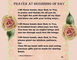 prayer at the beginning of the day