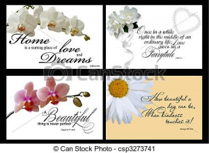 set of 4 inspirational quotes cards in vector format isolated on black ...