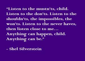 You gotta believe! Shel Silverstein