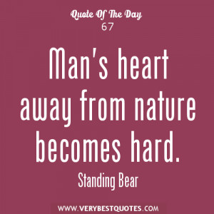 Man And Nature Quotes Man's heart away from nature