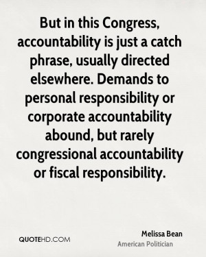 ... personal responsibility or corporate accountability abound, but rarely