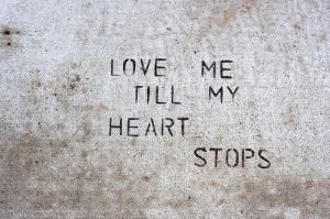 art, graffiti, happy love, heart, love, phrases, quotes, sayings ...