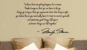 Get this Marilyn Monroe wall quote at Amazon