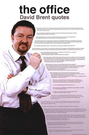 office poster product id mpw 17616 description david brent quotes ...