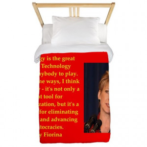 2016 Gifts > 2016 Bedroom Décor > carly fiorina quote Twin Duvet