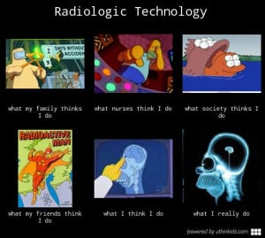 Radiologic technology What people think I do What I really do