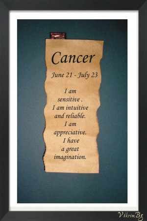 CANCER ZODIAC Parchment Astrological quote saying. €3.00, via Etsy.