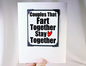 Home > Magnet Greeting Card > Couples Fart Together - MGT-LOV002