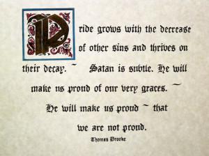 Thomas Brooks Quote Custom Calligraphy Puritan