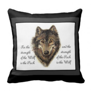 Wolf Pack Family Quotes Undo. watercolor wolf and